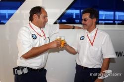 BMW Motorsport Director Gerhard Berger retirement party: Gerhard Berger and Dr Mario Theissen