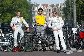 Press conference in Zandvoort: Peter Terting, Jeroen Bleekemolen and Christijan Albers