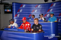Thursday FIA press conference: Juan Pablo Montoya, Michael Schumacher, Kimi Raikkonen, Cristiano da Matta, Jacques Villeneuve and Fernando Alonso