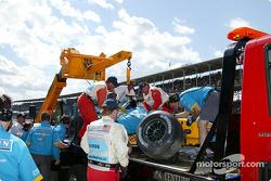 Jarno Trulli's wrecked car
