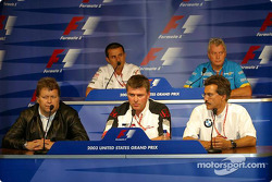Friday FIA press conference: Norbert Haug, Otmar Szafnauer, Dr Mario Theissen, Ange Pasquali and Pat Symonds