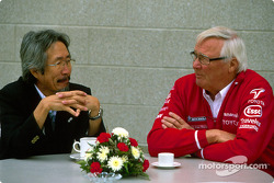 Makoto Matsui, GM Motorsport Division, with Ove Andersson