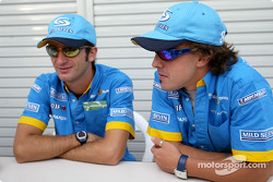 Jarno Trulli and Fernando Alonso