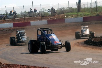 Rick Ziehl leads Brandon Lane and Ronnie Clark
