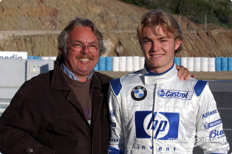 Nico Rosberg with father Keke