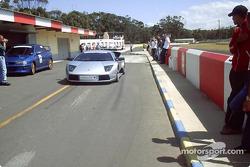 Lamborghini Murcielago coming down Killarney Pitlane