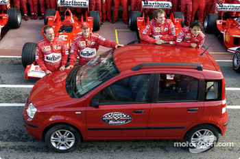 Barrichello, Schumacher, Badoer, Massa and the new Panda