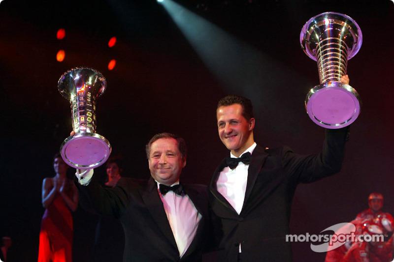 Formula One World Champion Michael Schumacher and Jean Todt