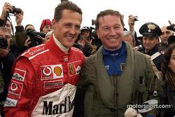 Michael Schumacher and Maurizio Cheli
