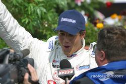 Interviews for race winner Leonardo Maia