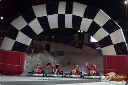 Kart race: finish line