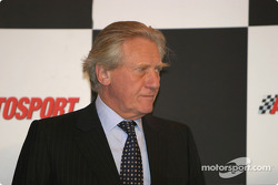 Michael Heseltine introduces HRH The Duke of York on Autosport Stage