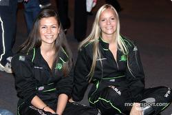 MG girls watch Gwyndaff Evans interview on Autosport Stage
