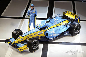 Test driver Franck Montagny with the new Renault R24