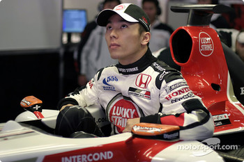 Takuma Sato tests the new BAR 006