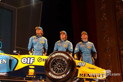 Franck Montagny, Fernando Alonso and Jarno Trulli
