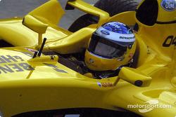 Nick Heidfeld leaves the pitlane