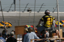 Infield fans watch race action
