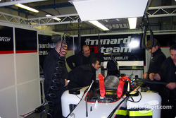 Team Minardi gets ready for test session