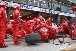 Pitstop practice at Ferrari