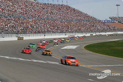 Tony Stewart pulls away from the pack
