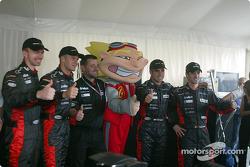 Bas Leinders, Gianmaria Bruni, Paul Stoddart, Zsolt Baumgartner and Tiago Monteiro