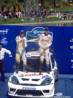 Podium: winner Markko Martin celebrates