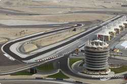 Aerial view of the Bahrain International Circuit