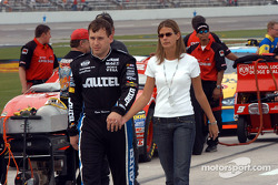 Ryan Newman and his wife