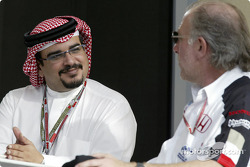H.H. Shaikh Salman Bin Hamad Al Khalifa, The Crown Prince and David Richards