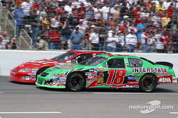 Bobby Labonte and Dale Earnhardt Jr. battle for position