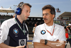 BMW head of engine testing Matthias Klietz and BMW Motorsport director Dr. Mario Theissen