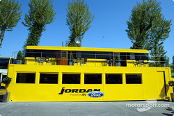 Jordan Grand Prix hospitality area