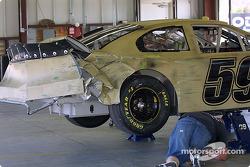 Klaus Graf's damaged car