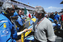 Flavio Briatore, Jarno Trulli and movie star Michael Douglas