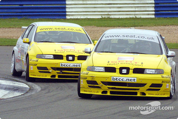 Robert Huff leads Jason Plato