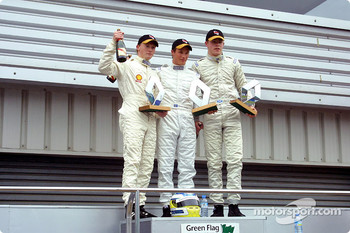 Mike Conway, Alex Storckenfeld and Paul Di Resta