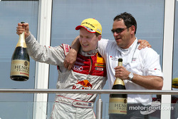 Mattias Ekström and Hans-Jürgen Abt celebrate win
