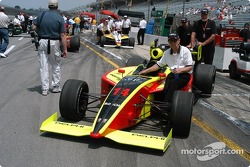 Jeff Simmons' car to the grid