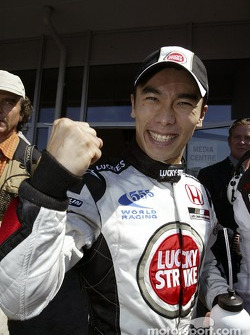 Takuma Sato celebrates first line qualifying