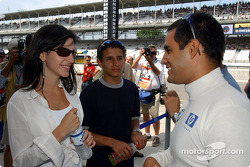 Juan Pablo Montoya with wife Connie and brother Federico