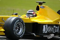 Nigel Mansell tests Jordan EJ14