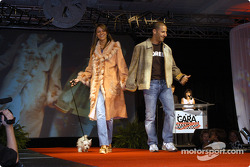 Tony Kanaan, wife Danni and dog Lucky