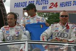 Marco Werner, Emanuele Pirro and JJ Lehto
