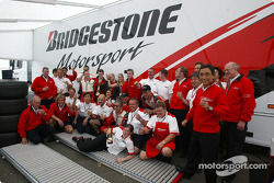 Bridgestone team members celebrate victory