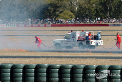 Another grass fire brings out the safety car once again