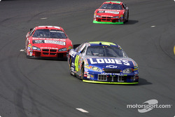 Jimmie Johnson, Kasey Kahne and Jeremy Mayfield