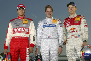 Timo Scheider, Christijan Albers and Mattias Ekstrm