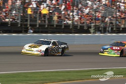 Dale Jarrett passes Elliott Sadler for 2nd place