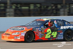 Jeff Gordon celebrates his 4th Brickyard 400 victory